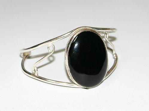 BS65 Black Onyx Stone Stering Silver Bracelets