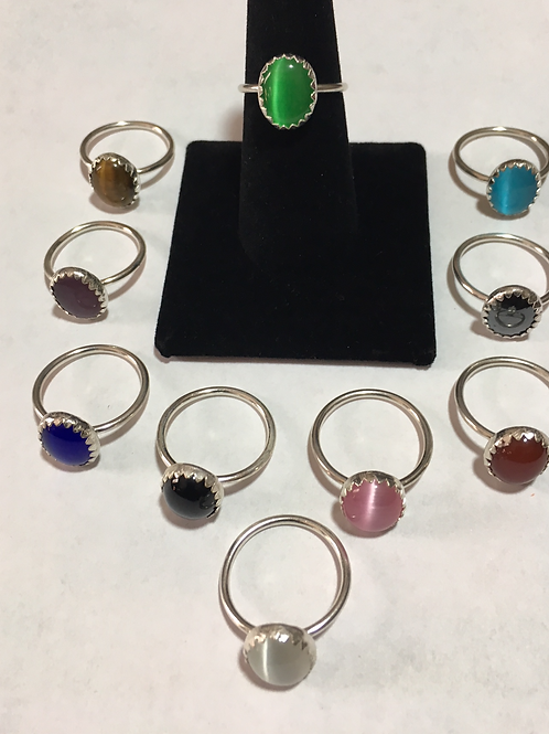 RS37 Sterling Silver Rings with (12 x 10 inch Stones) $30 each
