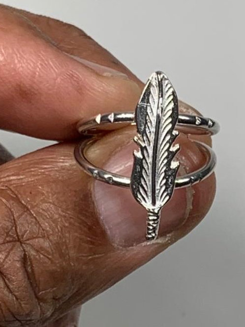 RS83 EGYPTIAN Leaf Stering Silver Ring