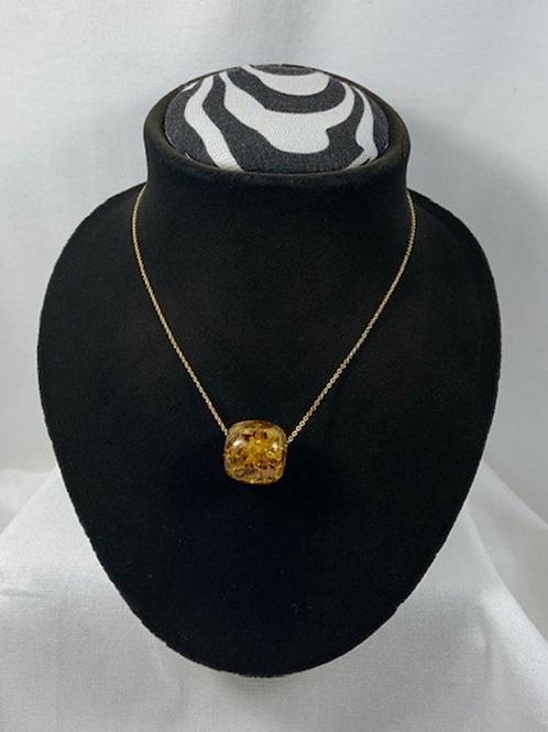 N6 Amber 14k Gold filled necklace