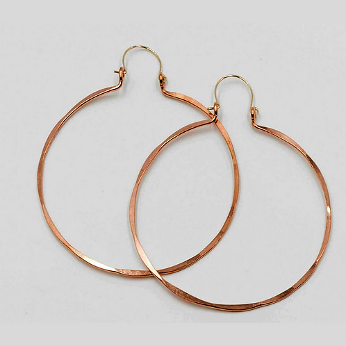 EC1 100% Copper Wire Barrel 3 inch Long Earrings