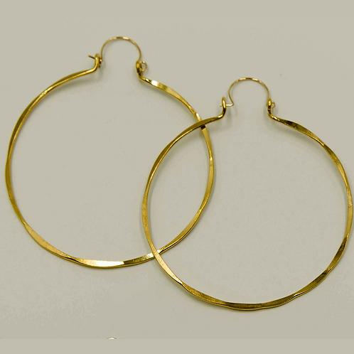 EB1 100% Brass Wire Barrel 3 inch Long Earring