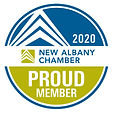 2020 New Albany Chamber Proud Member Decal