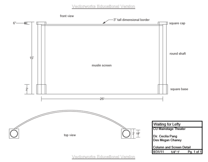 Screen and Column Drafting