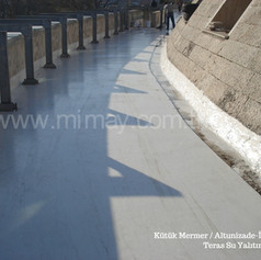Kütük Mermer / Altunizade - İst. Mermer kaplama üzeri teras su yalıtımı