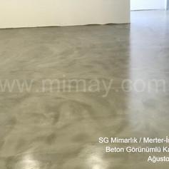 SG Mimarlık / Merter-İstanbul Beton Görünümlü Kaplama