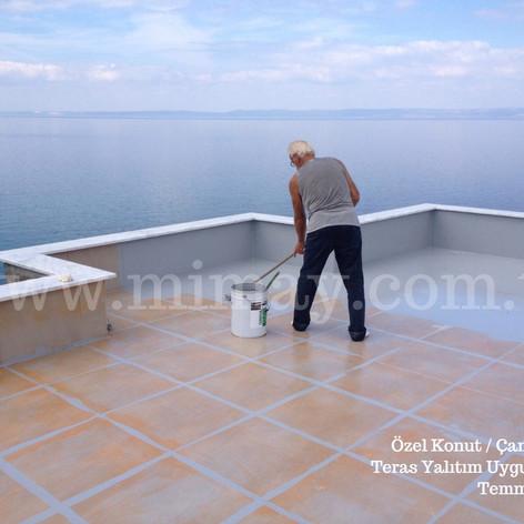Özel Konut / Çanakkale Seramik üzeri teras su yalıtımı