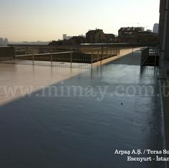 Arpaş Kuyumculuk / Esenyurt - İst. Poliüretan ile teras su yalıtımı