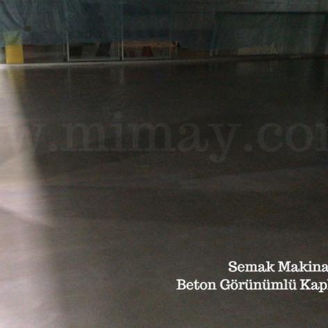 Semak Makina / Gebze - Kocaeli Beton Görünümlü Kaplama Uygulaması
