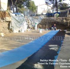 Balıkçı Mustafa / Tuzla - İst. Temel altı su yalıtımı