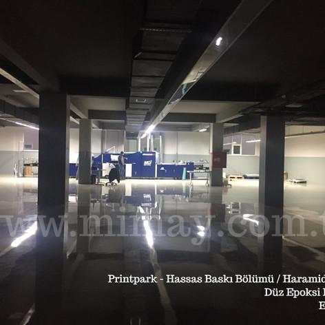 Printpark / Haramidere - İst. Düz yüzeyli epoksi kaplama uygulaması
