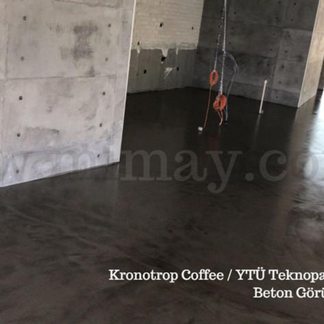 Kronotrop Coffee / YTÜ Teknopark - İstanbul Beton Görünümlü Kaplama (Mikrobeton) Uygulaması