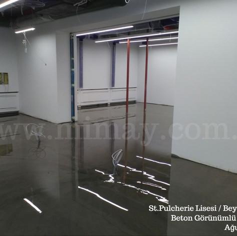 St. Pulcherie Lisesi / Beyoğlu - İstanbul Beton Görünümlü Kaplama Uygulaması