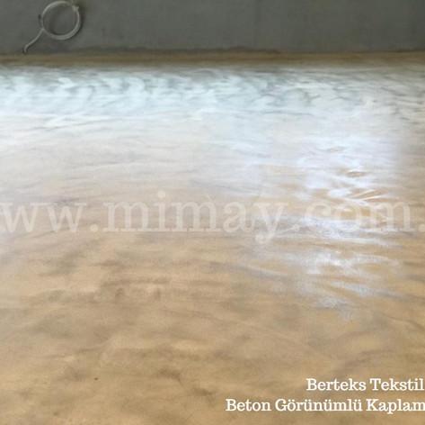 Berteks Tekstil / Bursa Beton Görünümlü Kaplama (Mikrobeton) Uygulaması
