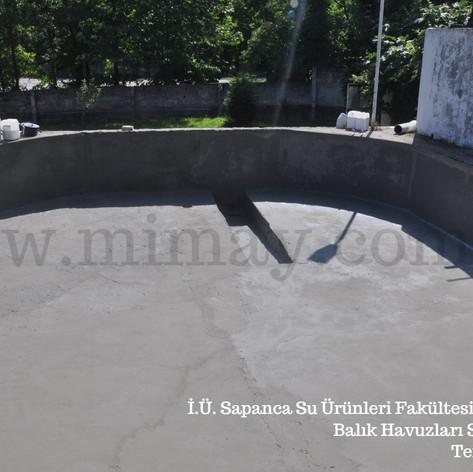 İ.Ü. Sapanca Su Ürünleri Fak. / Sapanca Balık havuzları su yalıtımı