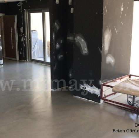 BG Mimarlık / İstanbul Beton Görünümlü Kaplama (Mikrobeton) Uygulaması