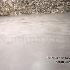 St. Pulcherie Lisesi / Beyoğlu - İstanbul Beton Görünümlü Kaplama (Mikrobeton) Uygulaması