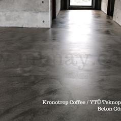 Kronotrop Coffee / YTÜ Teknopark - İstanbul Beton Görünümlü Kaplama Uygulaması