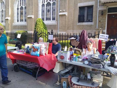 A Successful Flea Market on a Beautiful Day