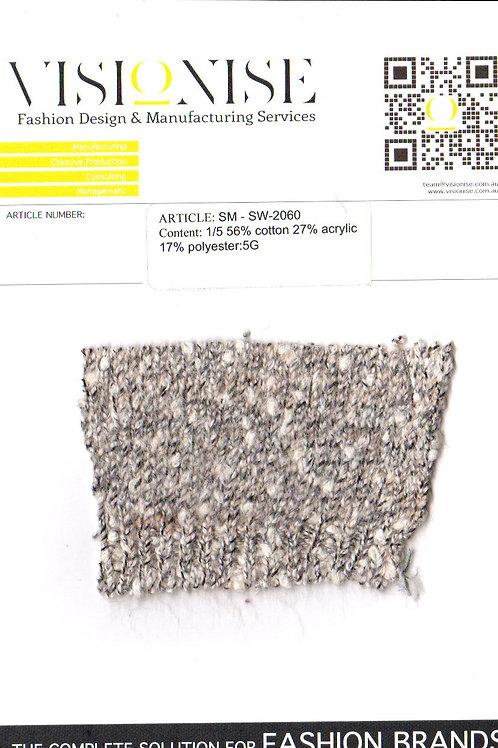 1/5 56% cotton 27% acrylic 17% polyester:5G