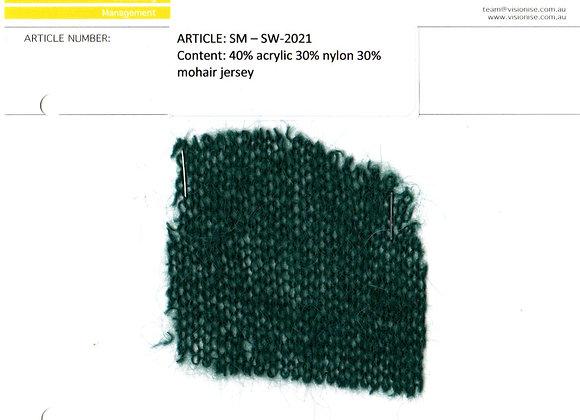 40% acrylic 30% nylon 30% mohair jersey