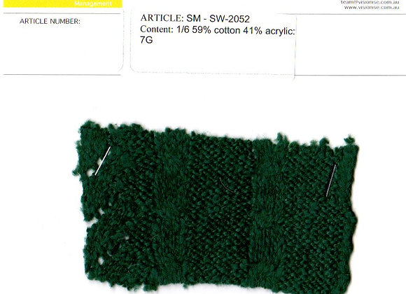 1/6 59% cotton 41% acrylic: 7G