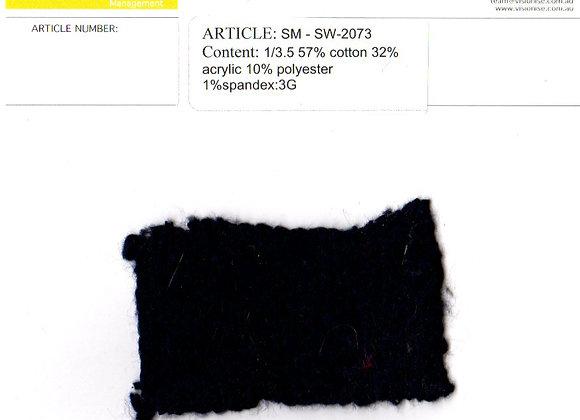1/3.5 57% cotton 32% acrylic 10% polyester 1%spandex:3G