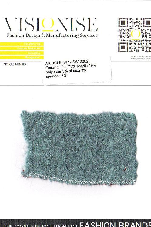 1/11 75% acrylic 19% polyester 3% alpaca 3% spandex:7G