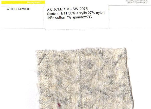 1/11 50% acrylic 27% nylon 14% cotton 7% spande:7G