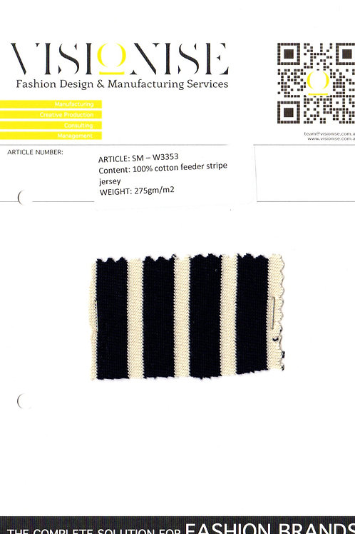 100% cotton feeder stripe jersey