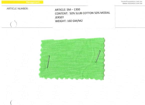 50% slub cotton 50% modal jersey