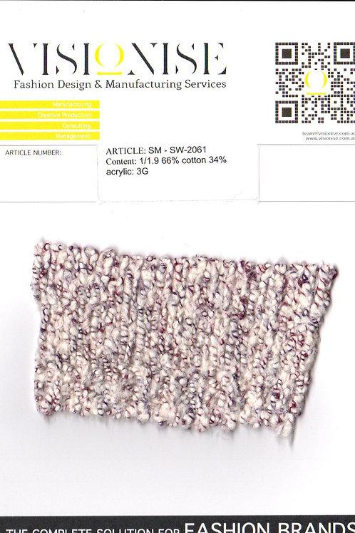 1/1.9 66% cotton 34% acrylic: 3G