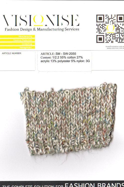 1/2.2 55% cotton 27% acrylic 13% polyester 5% nylon: 3G