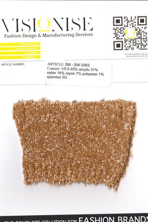 1/5.5 45% acrylic 31% nylon 16% rayon 7%  polyester 1% spandex 5G