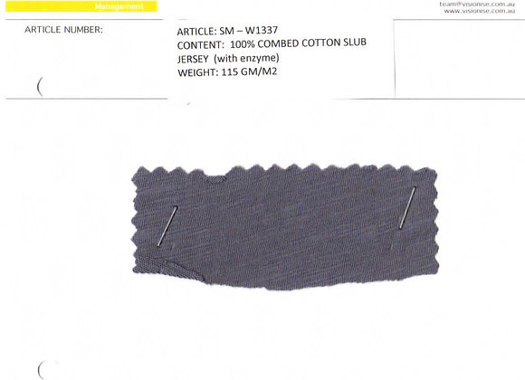 100% combed cotton slub jersey (with enzyme)