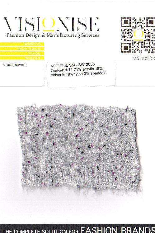 1/11 71% acrylic 18% polyester 8%nylon 3% spandex