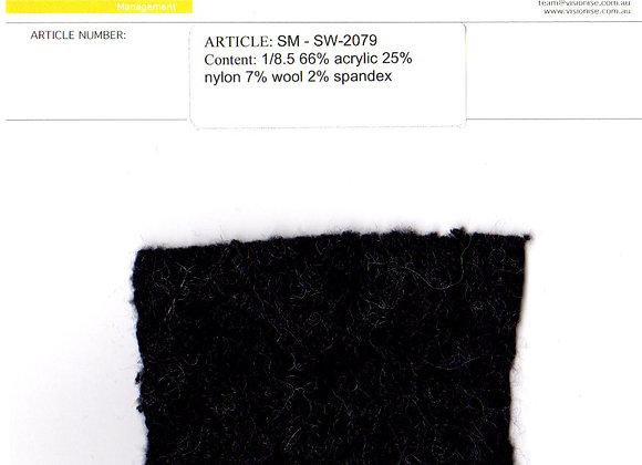 1/8.5 66% acrylic 25% nylon 7% wool 2% spandex