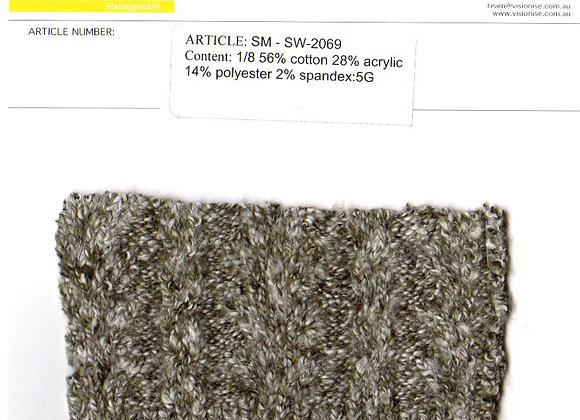 1/8 56% cotton 28% acrylic 14% polyester 2% spandex:5G