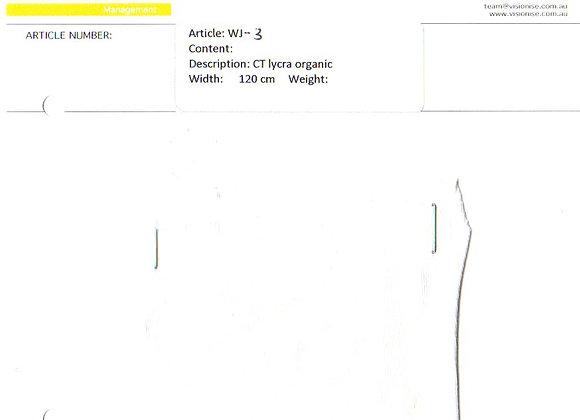 WJ-3 CT Lycra organic