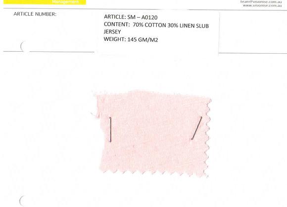 70% cotton 30% linen slub jersey