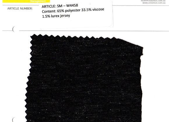 65% polyester 33.5% viscose 1.5% lurex jersey