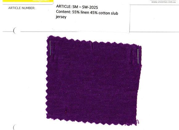 55% linen 45% cotton slub jersey