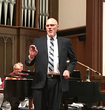 Rev. Roger Grandia preaches at Westminster Presbyteran Chuch