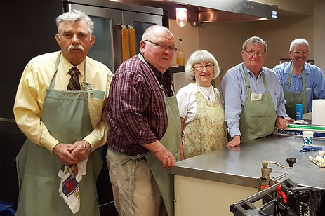 Karol and Larry Cooper coordinate the Sunday breakfast program. Westminster Presbyterian, Cedar Rapids, IA