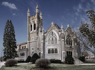 View of Westminster Presbyterian Church, Cedar Rapids, IA from Third Ave SE.