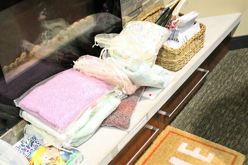 Westminster's Prayer Shawl Ministry gives hand knit baby blankets to Ronald McDonald Room in Cedar Rapids, IA.
