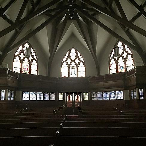 Historic Sanctuary of Westminster Presbyterian Church, Cedar Rapids, IA.