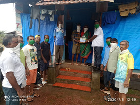 Relief Work for Nisarga Cyclone Victims during COVID-19 Pandemic