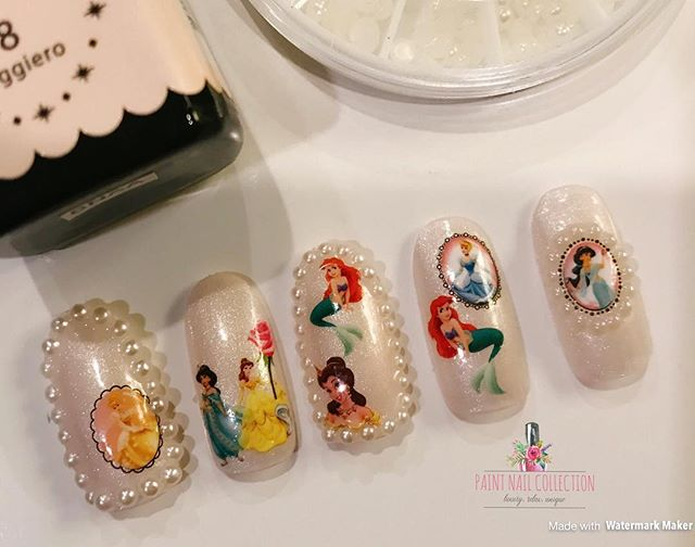 迪士尼風美甲~送給童心未泯的你💋_Disneyland Nail Art from Paint Nail💎!! Isn't it cool wearing this to Disney_! Lol