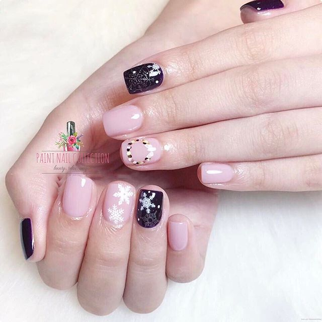 夏天雪花款,清新好看💕❄️_Snowflakes in the summer✨__Follow us for more info__WeChat_paintnailcollection _Faceb